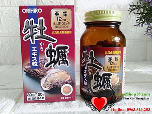 Tinh chất hàu nhật orihiro bổ sung kẽm cho nam giới